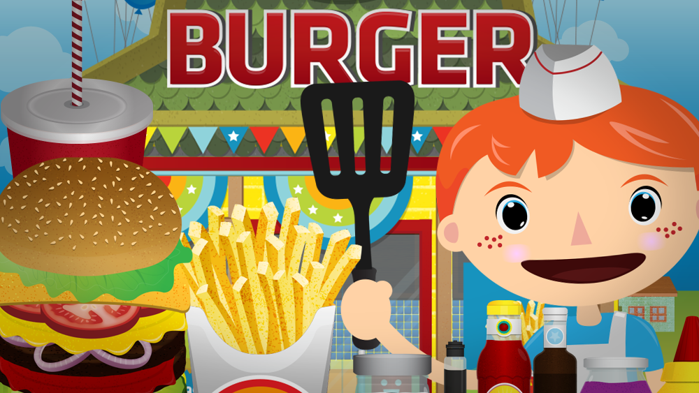 Kids can make their very own burgers, fries and sodas with Bamba Burger