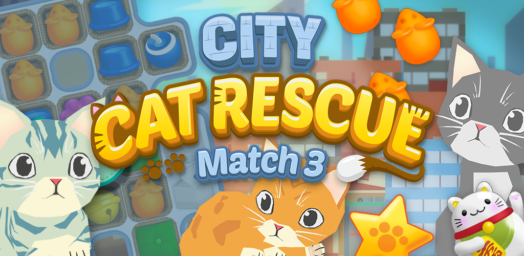 Save the Poor Cats in the City by solving Puzzles in City Cat Rescue