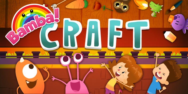 Kids Can Craft Objects With Bamba Craft for iPad