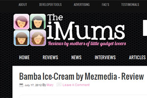 Bamba Ice Cream reviewed on The iMums