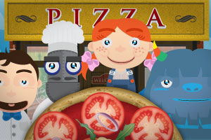 Bamba Pizza: kids get to make their own pizza!