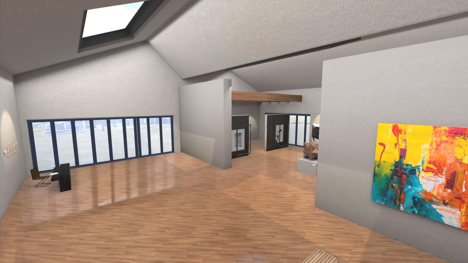 virtual art gallery 3d